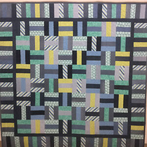 """New Denim and Flannel Quilt - 60""""x60"""""""