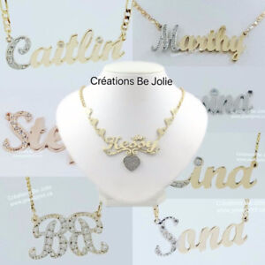 Name Necklace Silver or GOLD WWW.JEWELPRINT.CA