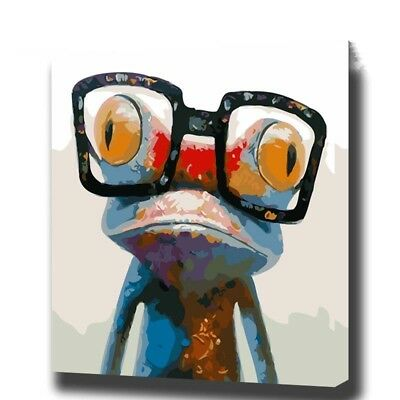 Paint By Number Kit Abstract Colorful Little Frog Easy DIY Picture 16x20