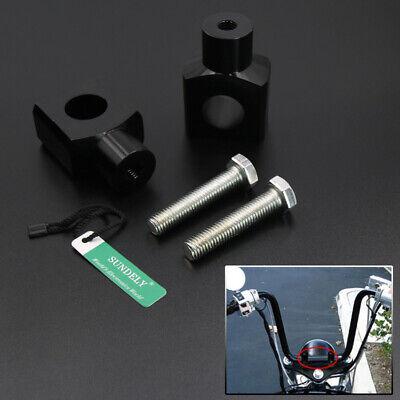 BLACK MOTORCYCLE HANDLEBAR FAT BAR RISER CLAMP 1 25MM FOR HARLEY HOND