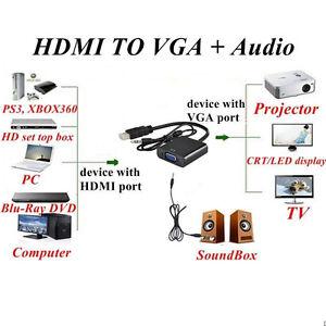 HDMI male to VGA , Digital to Analogue converter/ adaptor!