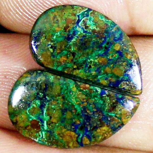 24.00 Cts Natural Azurite Malachite Chrysocolla Fancy Pair Cab Loose Gemstone