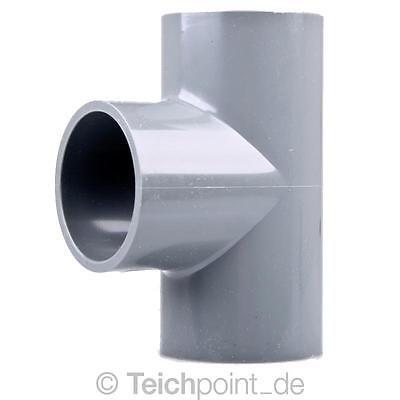 1 Stück PVC T-Stück 90° 50 mm ECO Koi Teich Filter