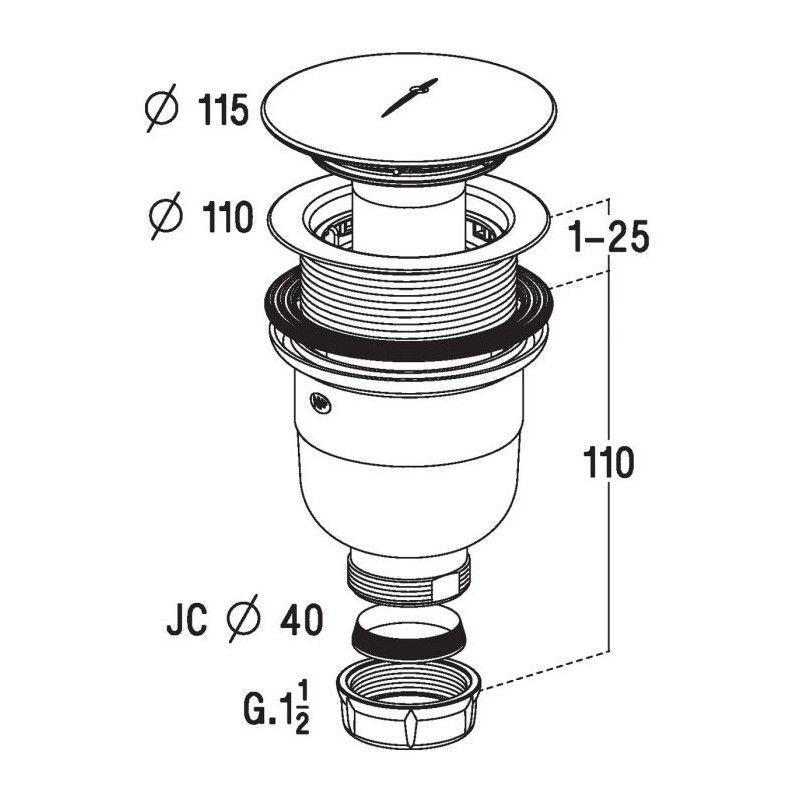 Vidage de douche bonde verticale pour receveur 90 mm nicoll eur 29 90 picclick fr - Bonde de douche verticale ...