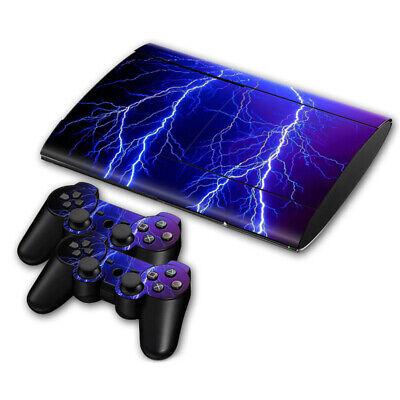 PS3 PLAYSTATION 3 Super Slim Skin Design Sticker Protector -Lightning Style