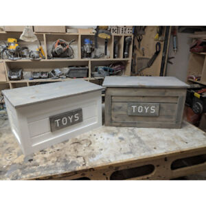 Solid wood toybox