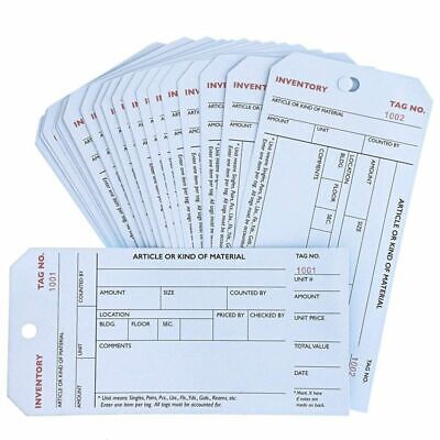Juvale 500-pack Bulk Stub Style Inventory Tags White Manila Paper 6 X 3 Inches