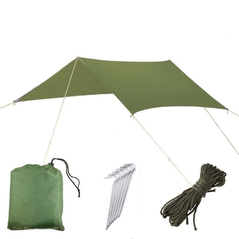 3x3m Portable Ultralight Waterproof Tent Tarp Hammock Shelter Sunshade Canopy