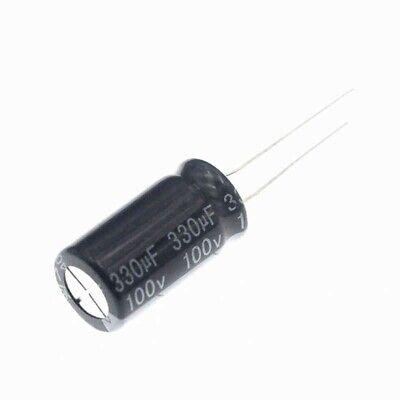 10pcs 100v 330uf 100volt 330mfd 105c Electrolytic Capacitor 1325mm