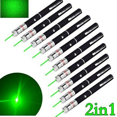 10pc 2in1 Green Laser Pointer Pen Star Visible Beam Torch Light Astronomy Lazer