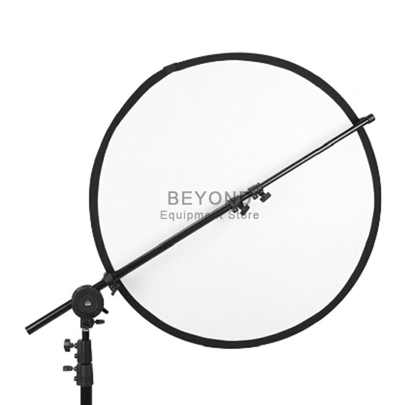 Photography Studio Light Reflector Extendable Holding Arm Boom Stand w/ Clamp