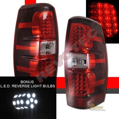 07-13 Chevy Avalanche LS LT LTZ Pickup Red LED Tail Lights w/ LED Reverse