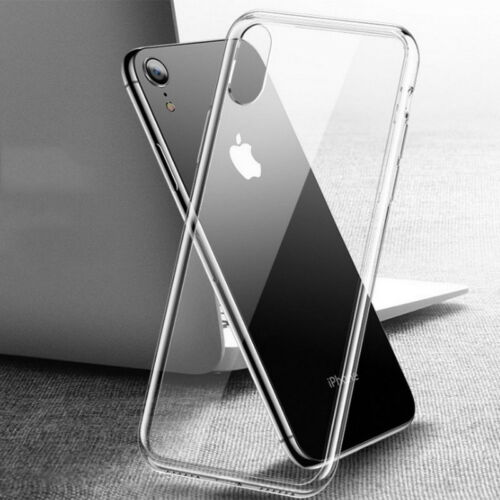 For iPhone XS MAX XR X 8 Clear Shockproof Bumper Transparent Silicone Case Cover