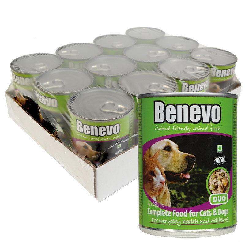 Benevo Duo Veganes Nassfutter für Hunde & Katzen 12 x 369g (8,56 EUR/kg)