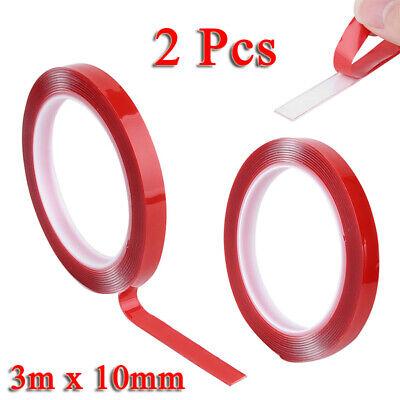 2 Pcs 3m 10mm Rouleau Adhésif forte superbe double face Ruban collant essentiel