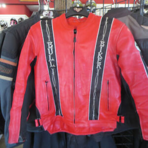 Bull Rider Men's Leather Motorcycle Jacket $80 Re-Gear