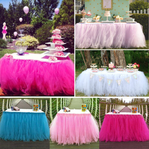 US Stock TUTU Table Skirt For Wedding Birthday Baby Shower T