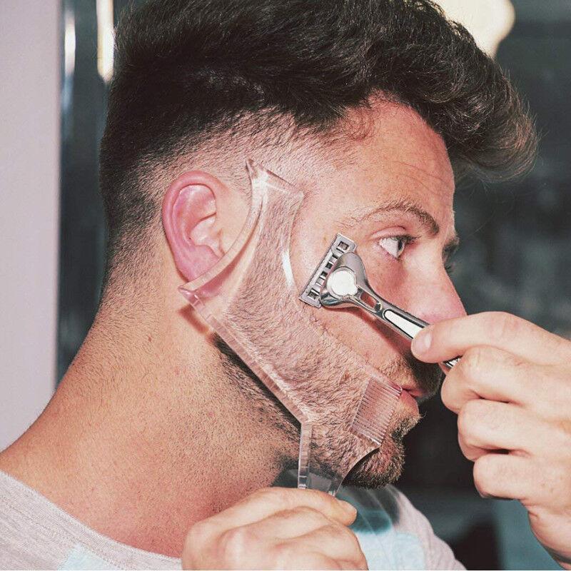 1pcs Men's Beard Combs Shaping Styling Tool Comb Transparent