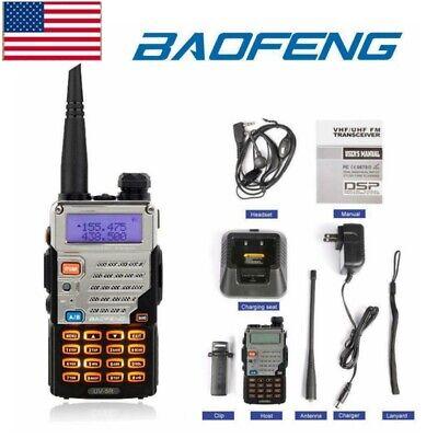 US Baofeng UV-5R VHF UHF Handheld Scanner Analog Walkie Talkie VHF Two-Way Radio