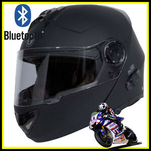 Motorcycle Helmets With Bluetooth Built In ... T27B Built In Bluetooth Modular Dual Visor Full Face Motorcycle Helmet