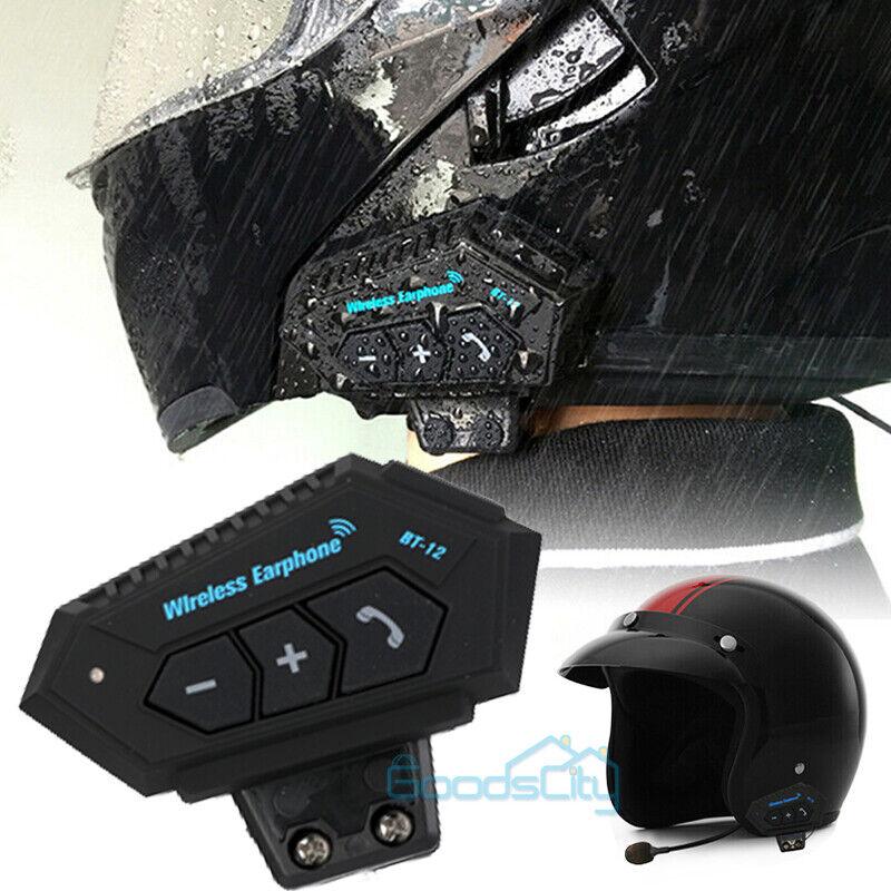 Motorcycle Helmet Headset Wireless Bluetooth Headphone Speaker Hands-Free BT-12