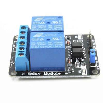 5v Dual 2 Channels Relay Module With Optocoupler For Pic Avr Dsp Arm Arduino