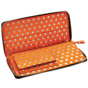 New Comme Des Garcons Polka Dots Long Wallet