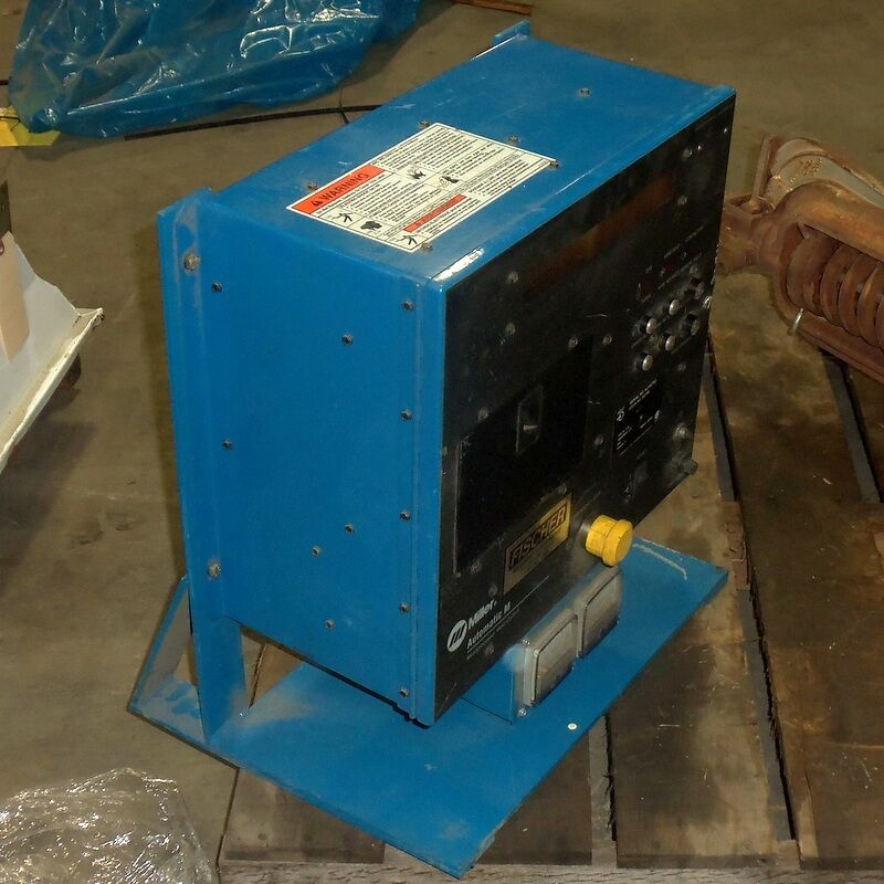 MILLER AUTOMATIC M MICROPROCESSOR WELD CONTROL AUTOMATED WELD CONTROLLER W/ BASE