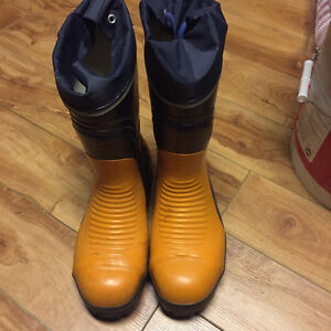 New Steel Toe Rubber Boots $45