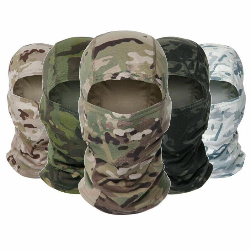 Camo Balaclava Hood Military Tactical Helmet Liner Gear Full Face Mask