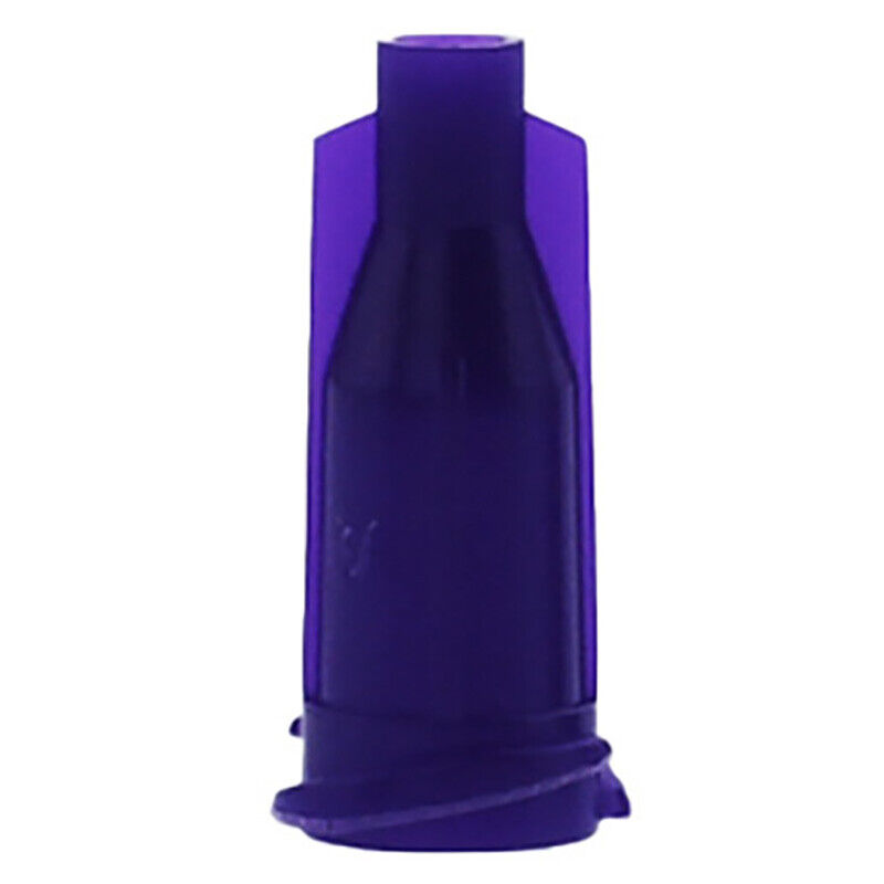 Glue Dispensing Syringe Tip Lpurple Cap Luer Lock , Pack of 1000