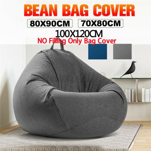Große Sitzsack Stühle Couch Sofa Cover Kissen Indoor Lazy Lounger für Kinder NEU