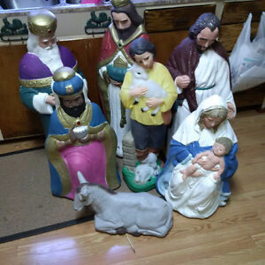 christmas out door nativity set blow molds