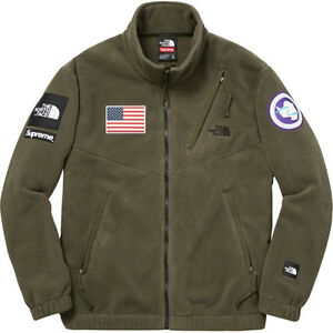 Supreme x North Face Expedition Fleece Jacket Olive