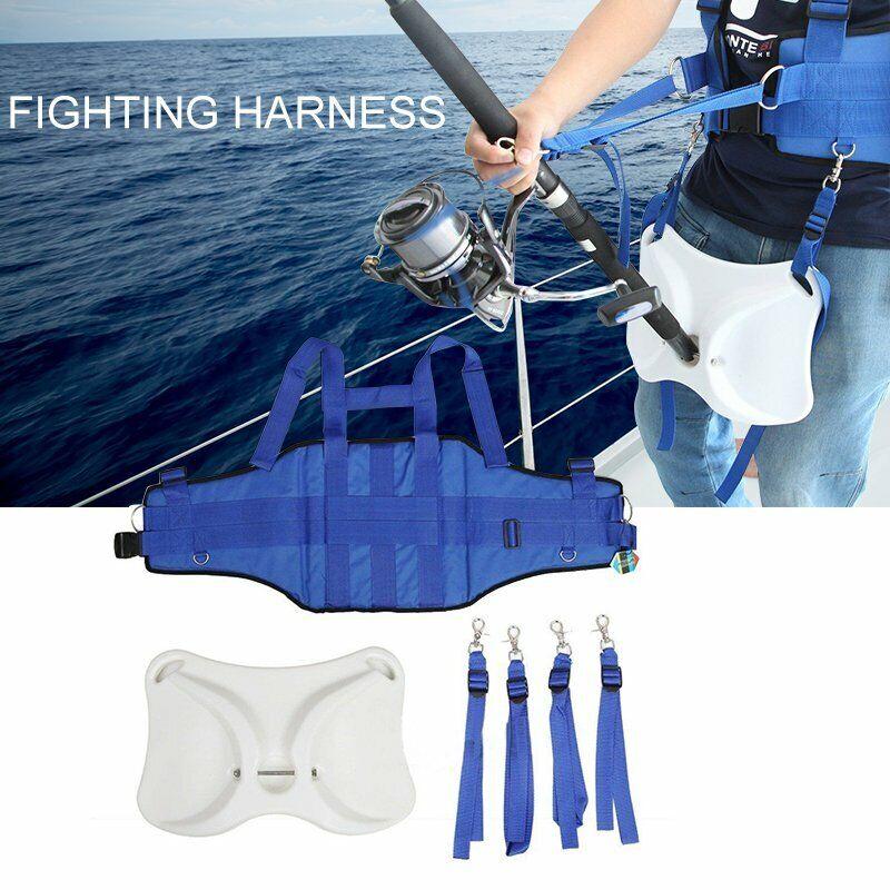 Offshore Boat Fishing Belt Fighting Rod Holder Belt Harness Vest Belt Waistband