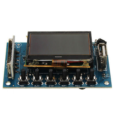 Bluetooth 12V mp3 decoder board FM/Recording/USB/SD/External Audio Input for CAR
