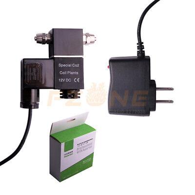 DC CO2 Solenoid Valve Aquarium CO2 Regulator Magnetic Valve for Aquarium (Co2 Tanks Regulators)