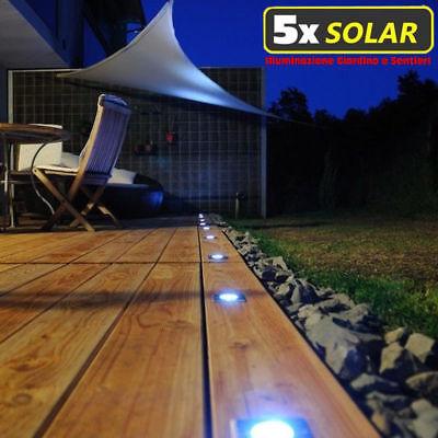 5x Lampade Lampada da giardino a Picchetto LED Energia Solare pannello solare