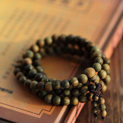 Meditation Prayer Beads - 1PC Sandalwood Buddhist Meditation 8mm*108 Prayer Bead Mala Bracelet Necklace