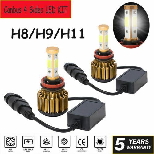4Sides H7 LED Headlight Conversion Kit Car Low Beam Bulbs 2150000LM 6000K White