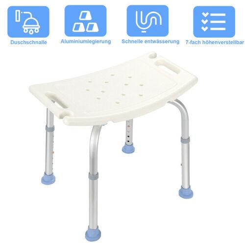 Badhocker Duschen höhenverstellbarer Badehilfe Badestuhl Quadrat Duschhocker