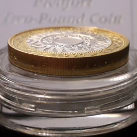 Piedfort £2 REAL Gold on Sterling Silver double thick coin