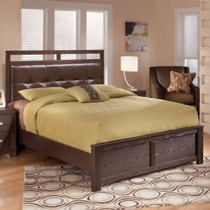 Ashley 6 pc bedroom package (Bed, Dresser,Mirror, Chest)