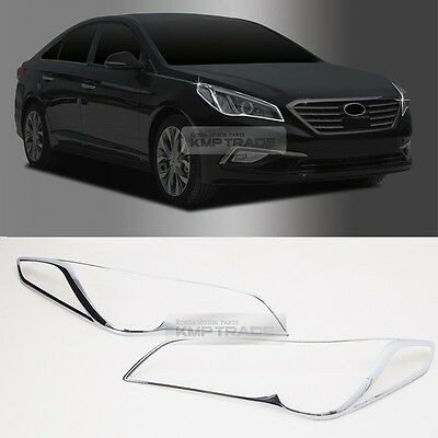 For 2013 ~ HYUNDA Elantra Fog Lamp Cover Garnish Molding Glossy Black 2EA 1SET