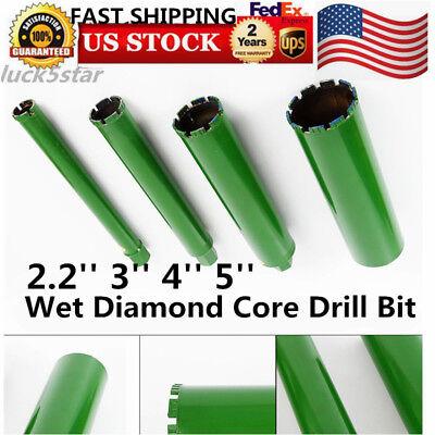 2.2 3 4 5wet Diamond Core Drill Bit For Concrete Premium Green Us Ship