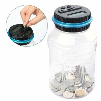 Electronic Digital LCD US Coin Counter Counting Jar Money Saving Piggy Bank Box.