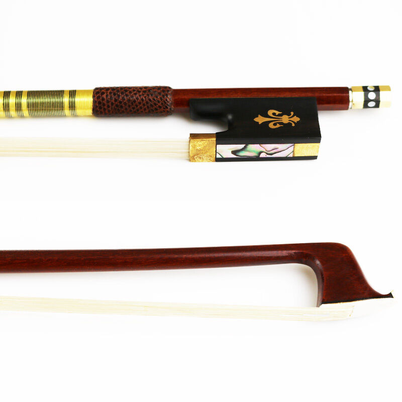 NEW 4/4 Advanced Elegant Pernambuco Violin Bow Warm Tone Natural Horsehair