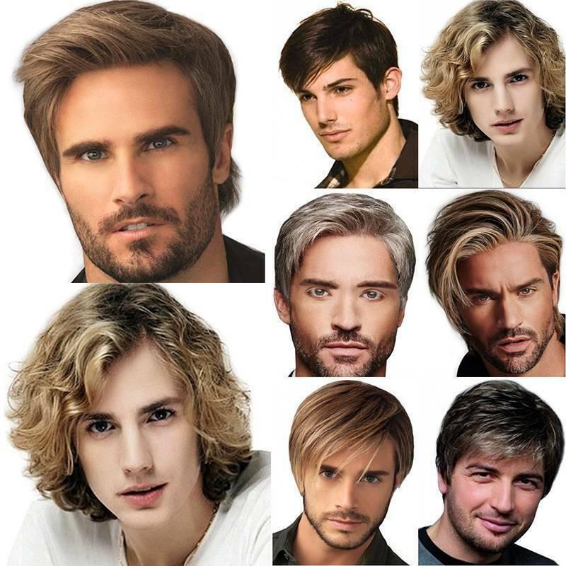 Herren Perücke Mode Toupet Kurz Jugendlich Haarteile Natürliche Kurzen Toupet