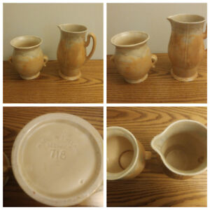 English Beswick pottery. Numbered. Excellent. Pitcher & vase.