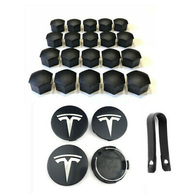 OEM Tesla Model 3 Aero Wheel Center cap and lug nut covers kit